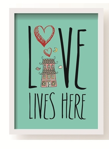 Love Lives Here Poster-All About Wall